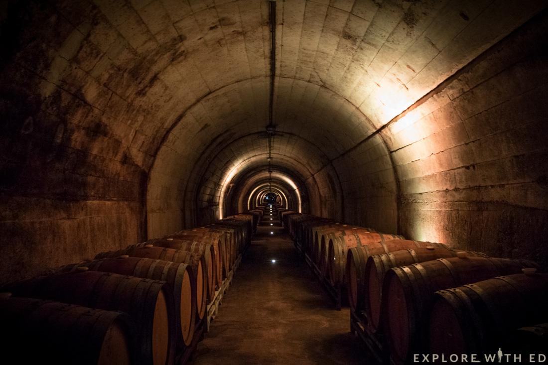 Wine tour, tunnel