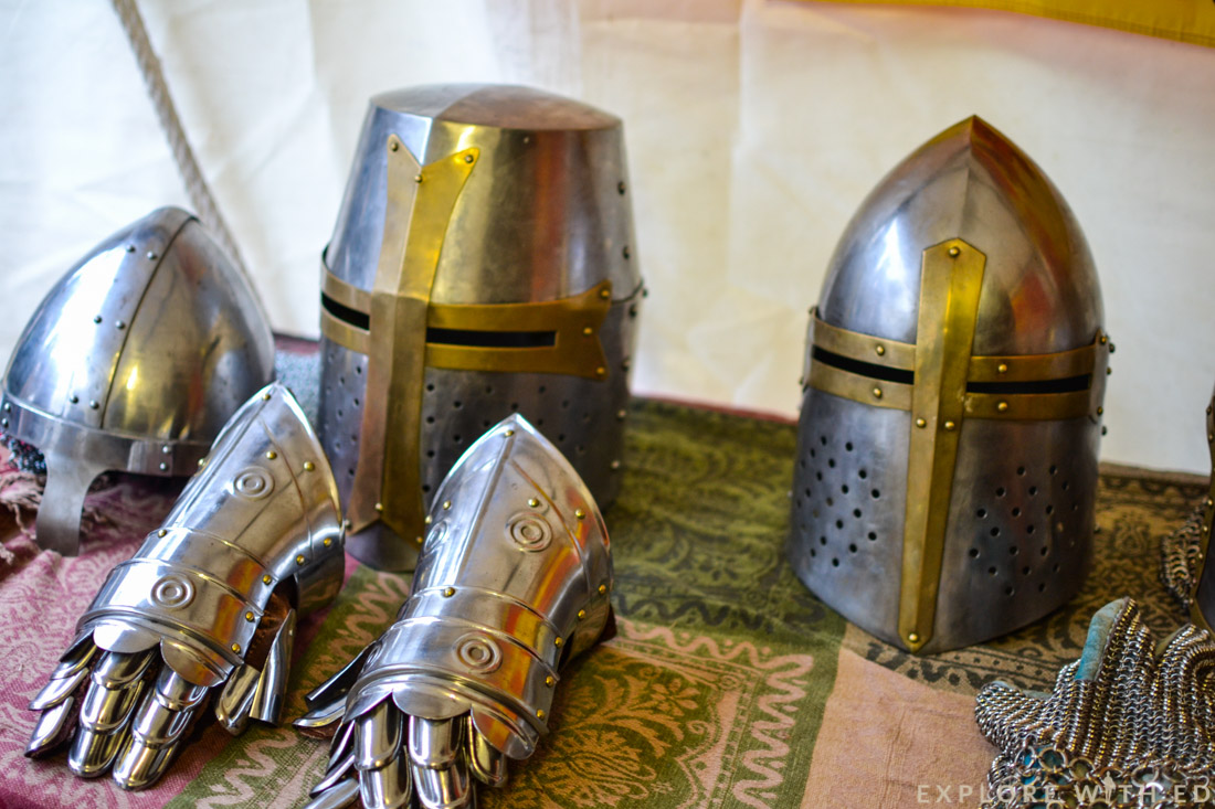 Armour stall, Ludlow Medieval Christmas Fayre