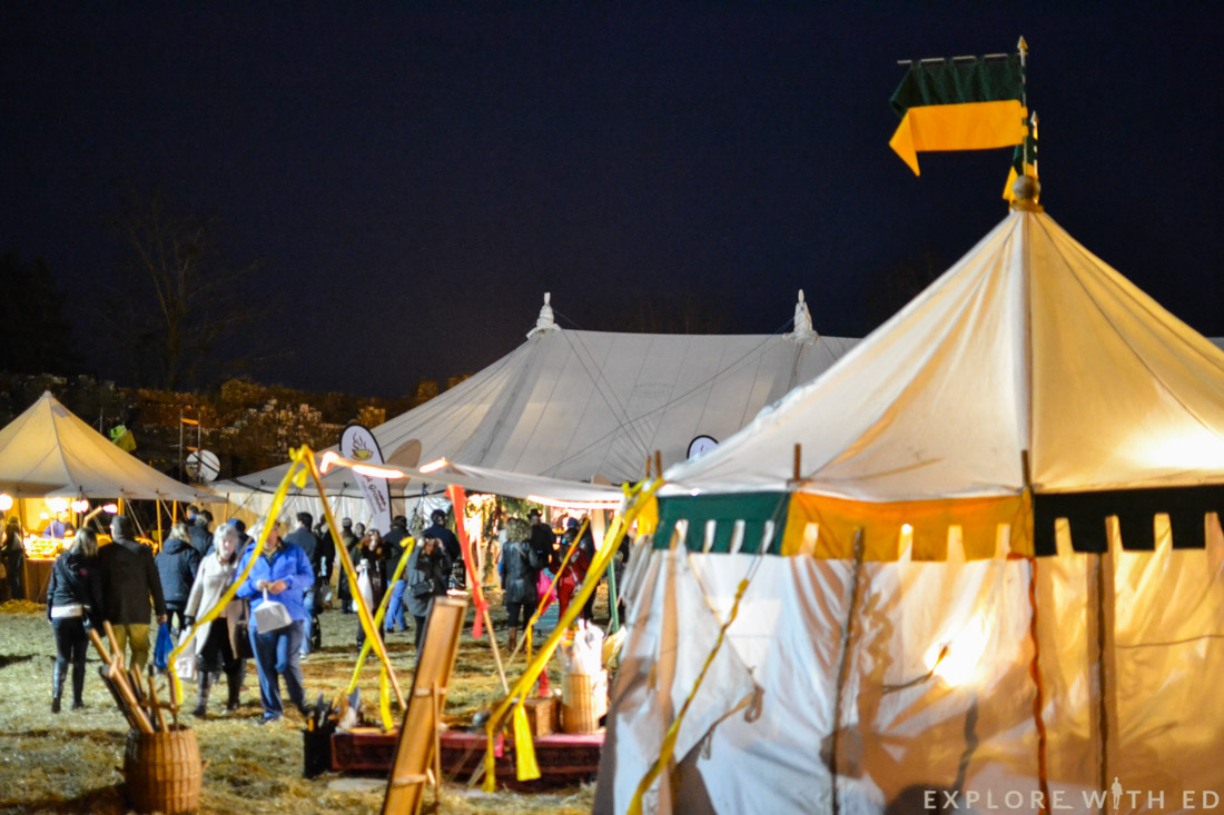 Ludlow Medieval Christmas Fayre tent stalls