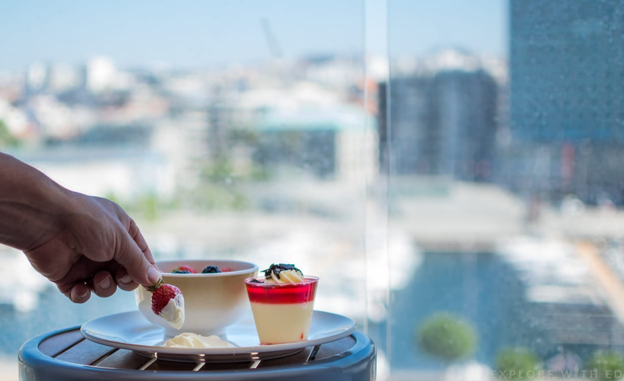 Strawberries and cream, Anthem of the Seas balcony