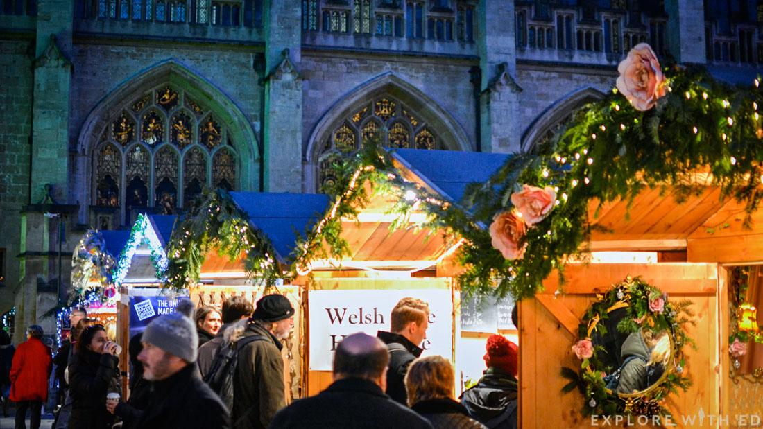 Bath Christmas Market Stall, Bath Abbey