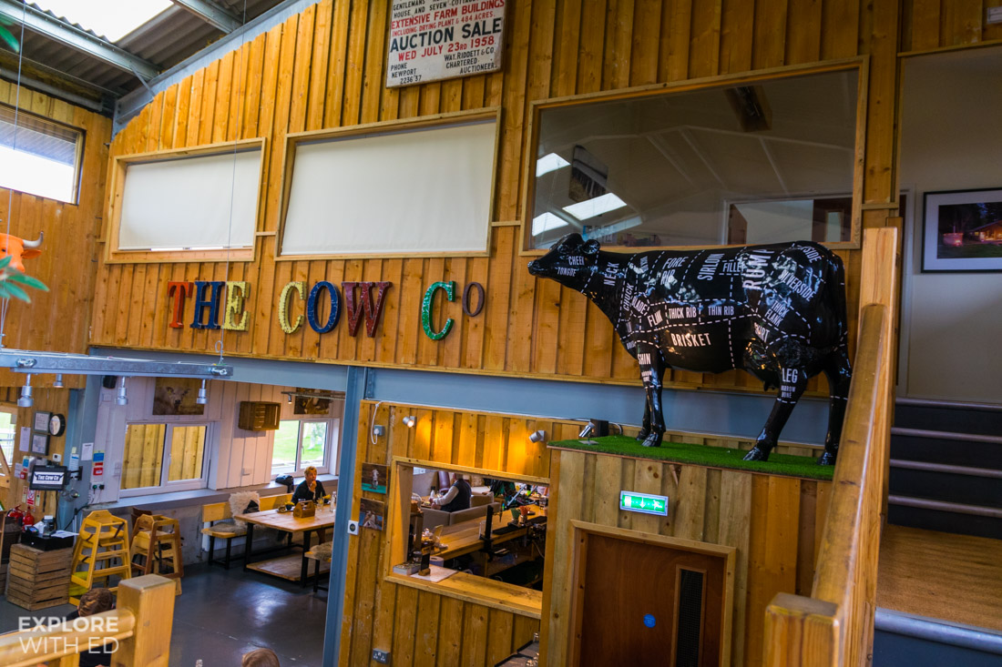 The Cow Co restaurant on Tapnell Farm