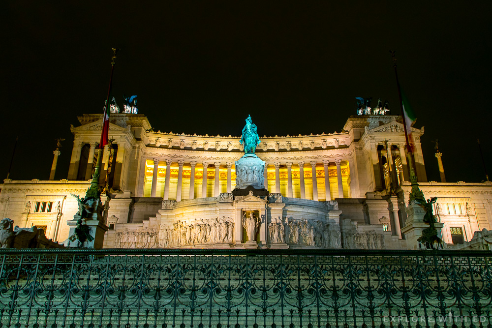 The National Monument to Victor Emmanuel II in Rome on the Piazza Venezia