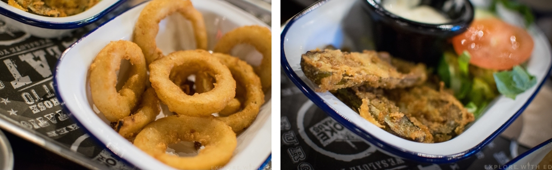 Sides, onion rings, fried pickles, The Smoke Haus Birmingham