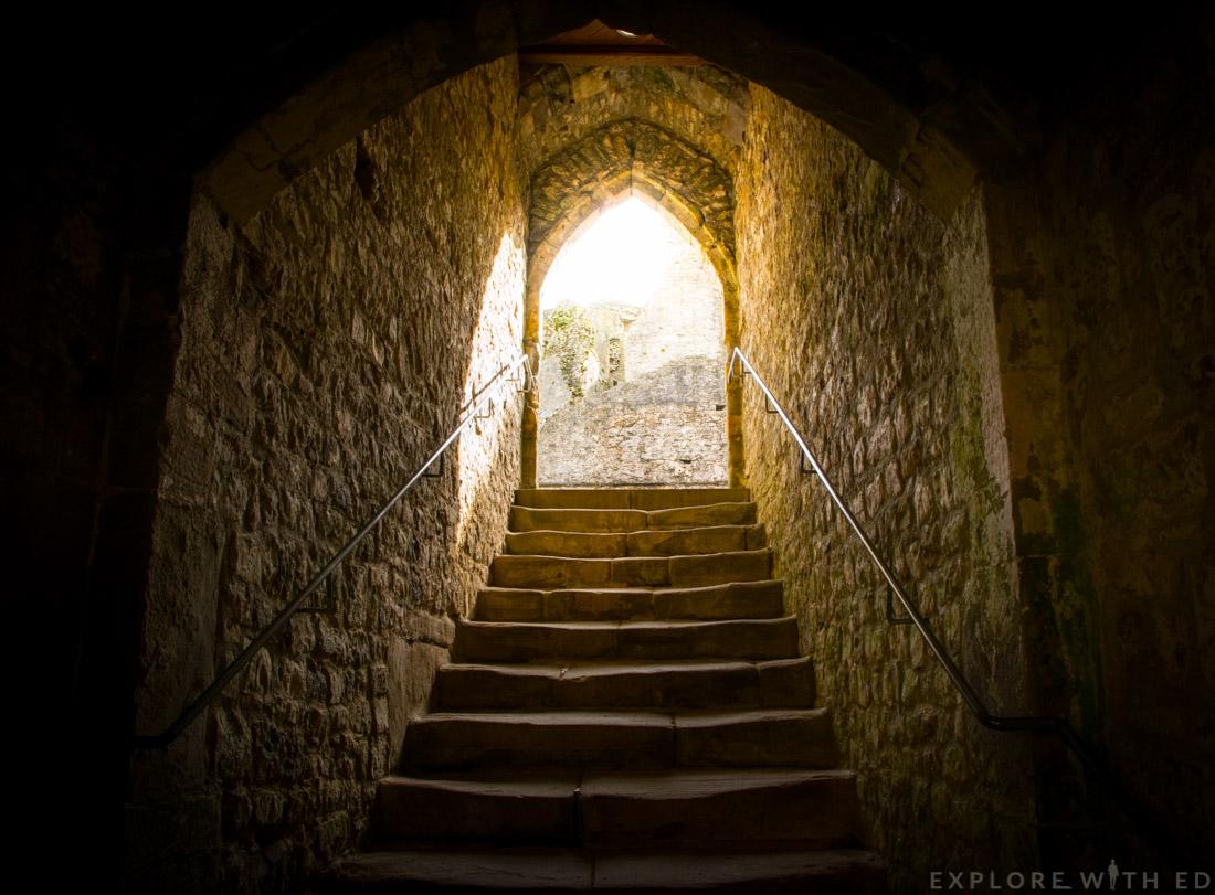 Inside Chepstow Castle