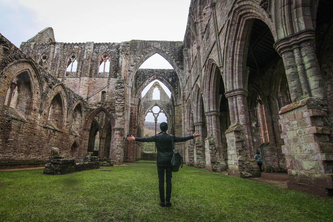 Tintern Abbey inside