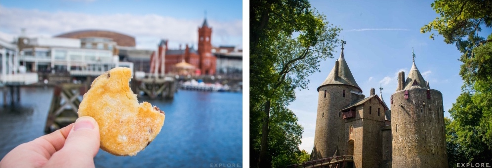 Welsh cakes in Cardiff bay and Castell Coch