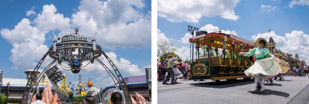 Tomorrowland and Mainstreet USA Parade in Magic Kingdom