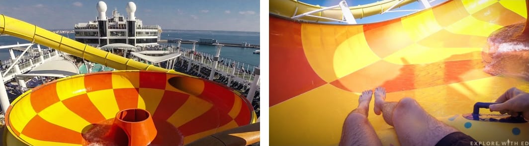 Waterslides on Norwegian Epic