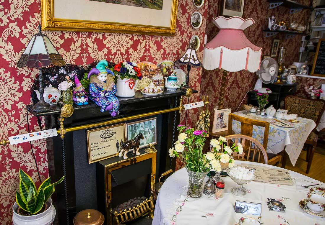 Victorian Tea room interior