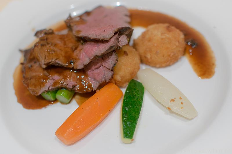 Chateaubriand of Beef Tenderloin, Emerald Princess Main Dining Room Menu