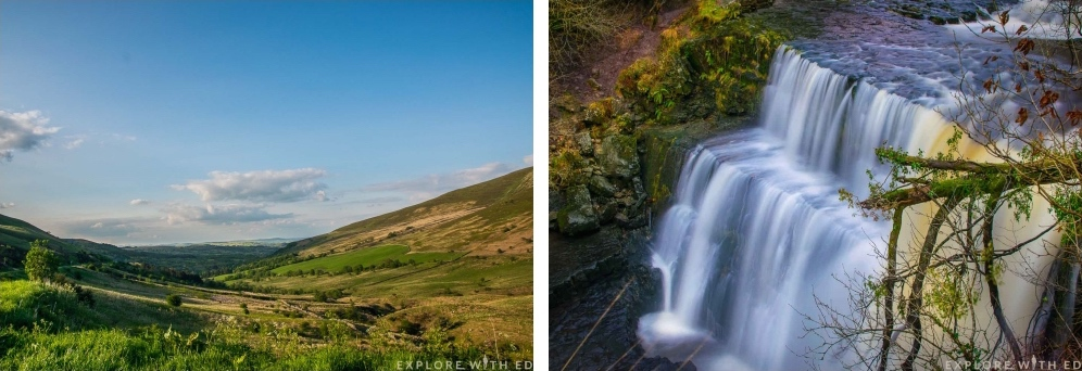 Brecon Beacons National Park, A Waterfall in Wales