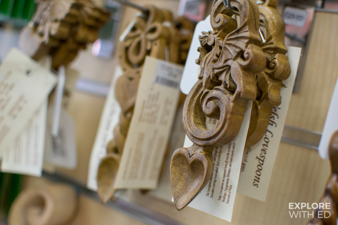 Wooden Love Spoons from Shop Wales