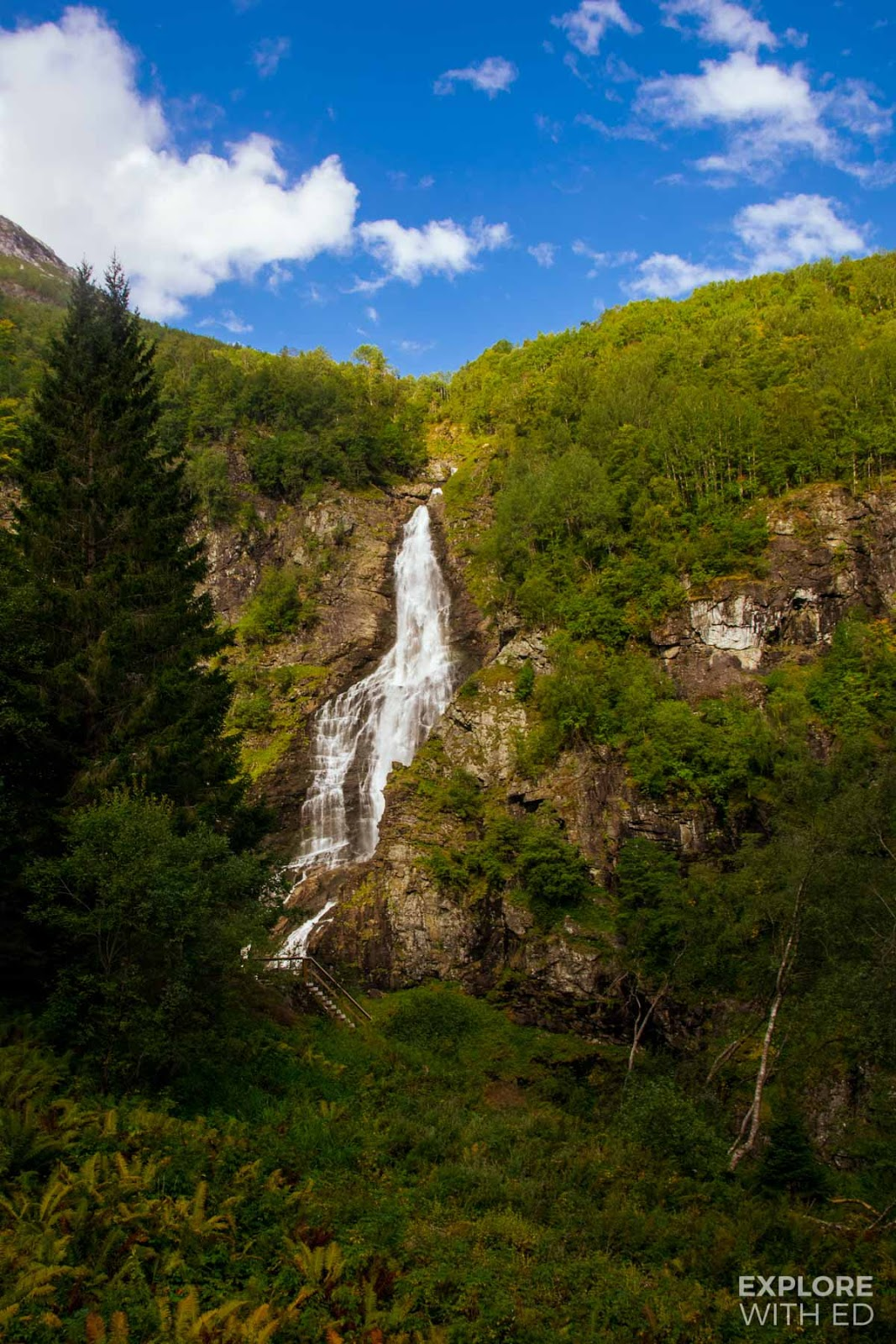 Waterfall near The Stalheimskleiva Road