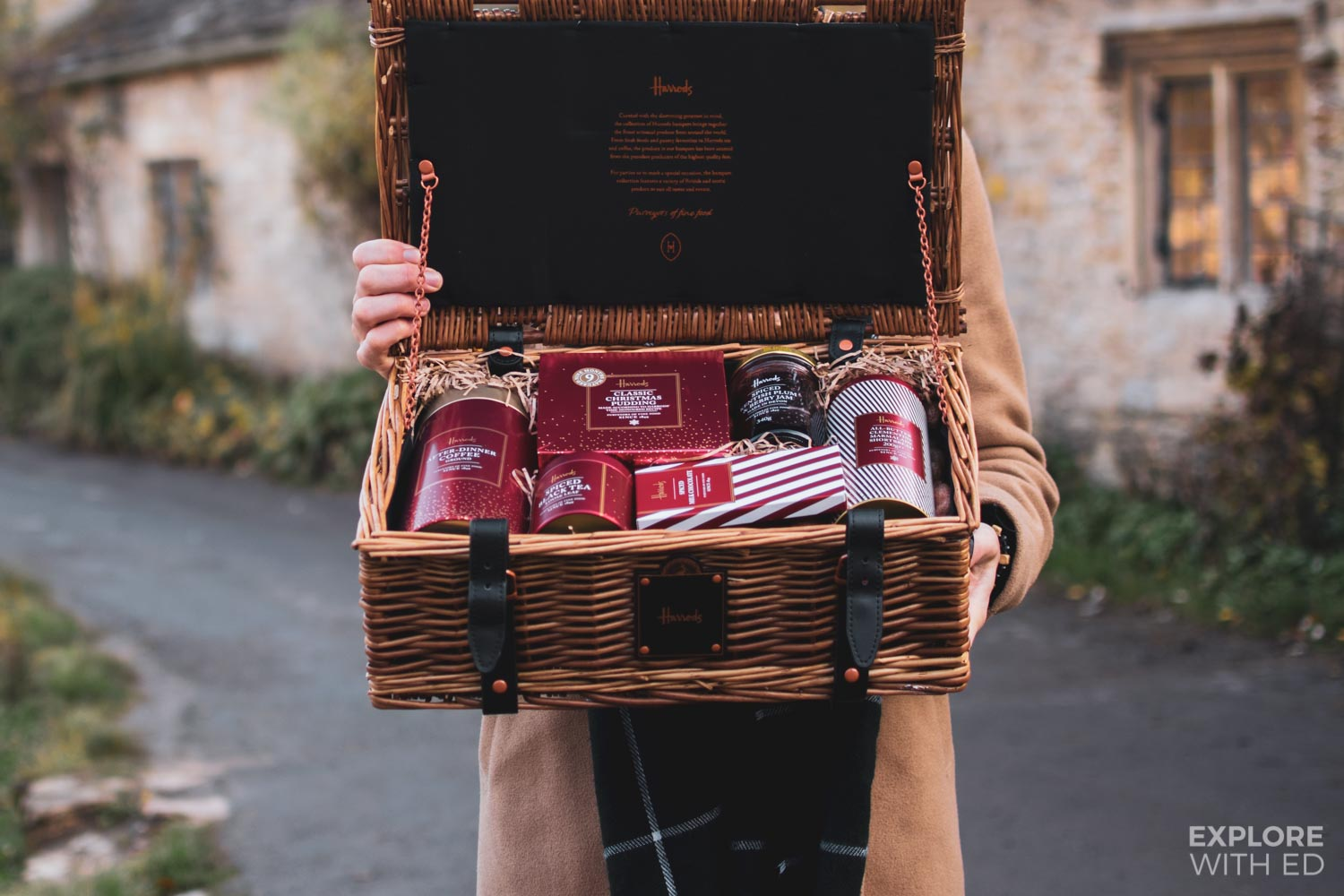 Inside The Chelsea Christmas Hamper box by Harrods