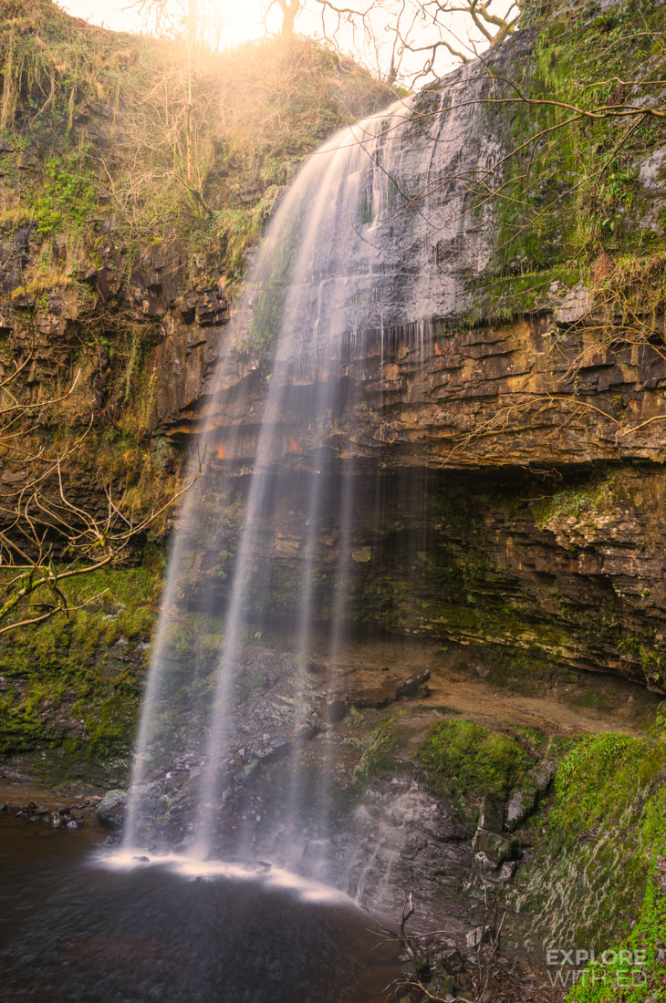 Henrhyd Waterfall - The entrance to The Bat Cave in Dark Night Rises