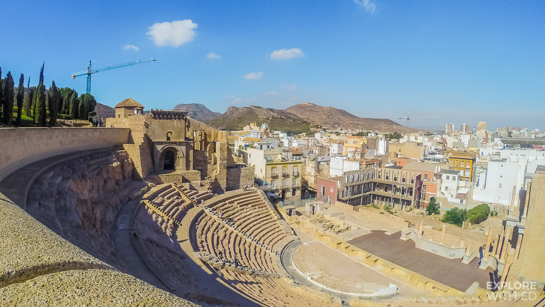 The amphitheatre in Cartagena, Spain