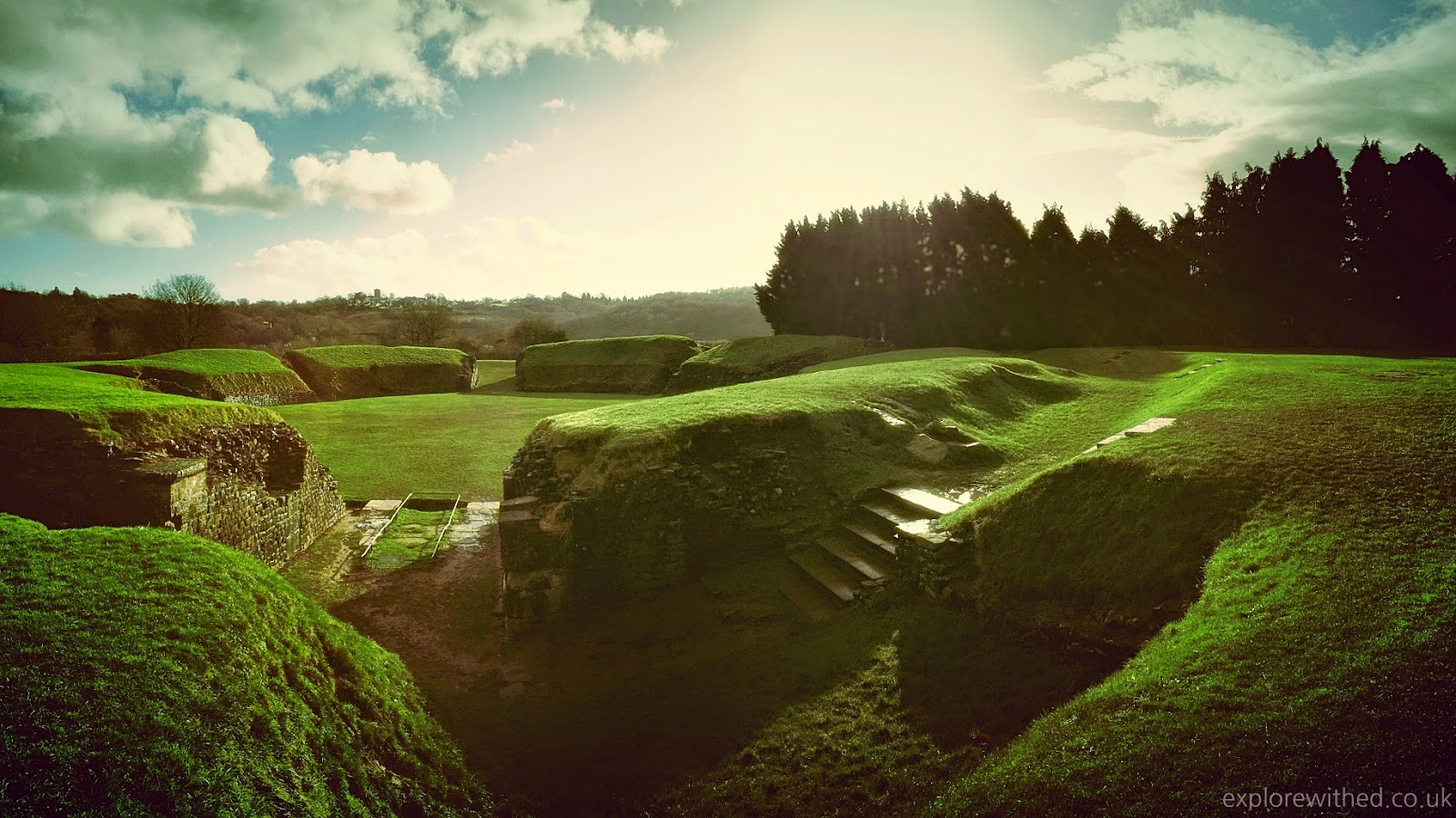 Amphitheatre Caerleon, Roman remains in Wales