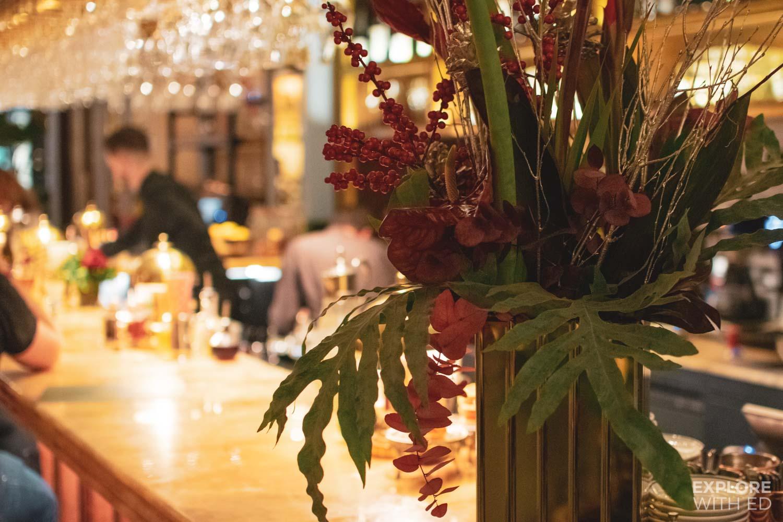 Bar area inside The Ivy Bath Brasserie