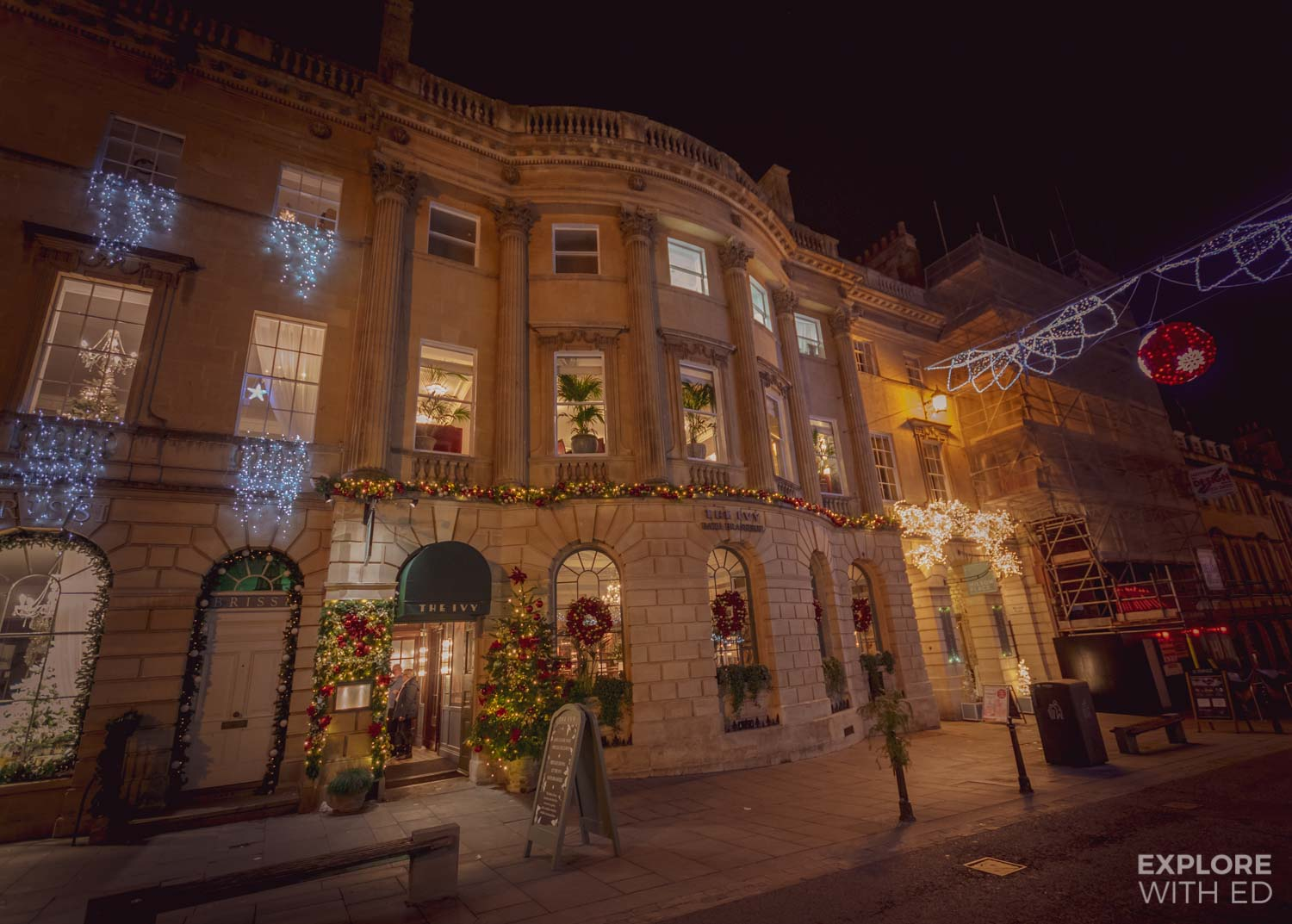 The Ivy Bath Brasserie At Christmas