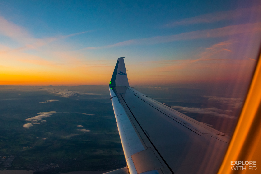 Flying from Cardiff to Amsterdam with KLM