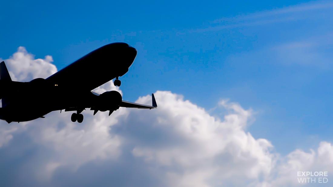 KLM flight landing in Schiphol
