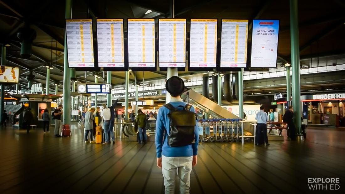 Schiphol Airport Departure Board