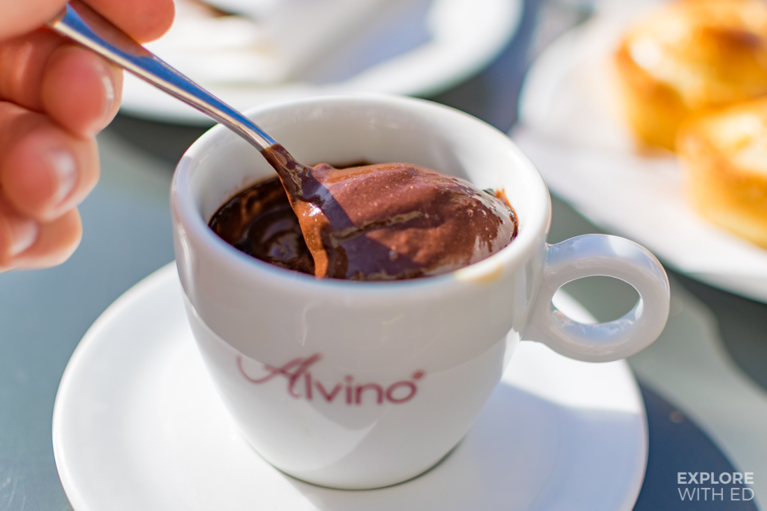 Hot chocolate from Café Alvino in Lecce