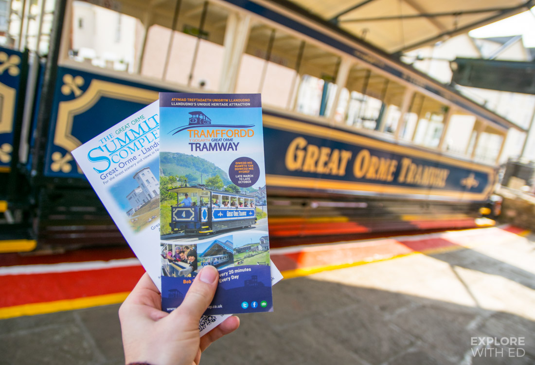 Leaflet information about the Great Orme Tramway in Llandudno