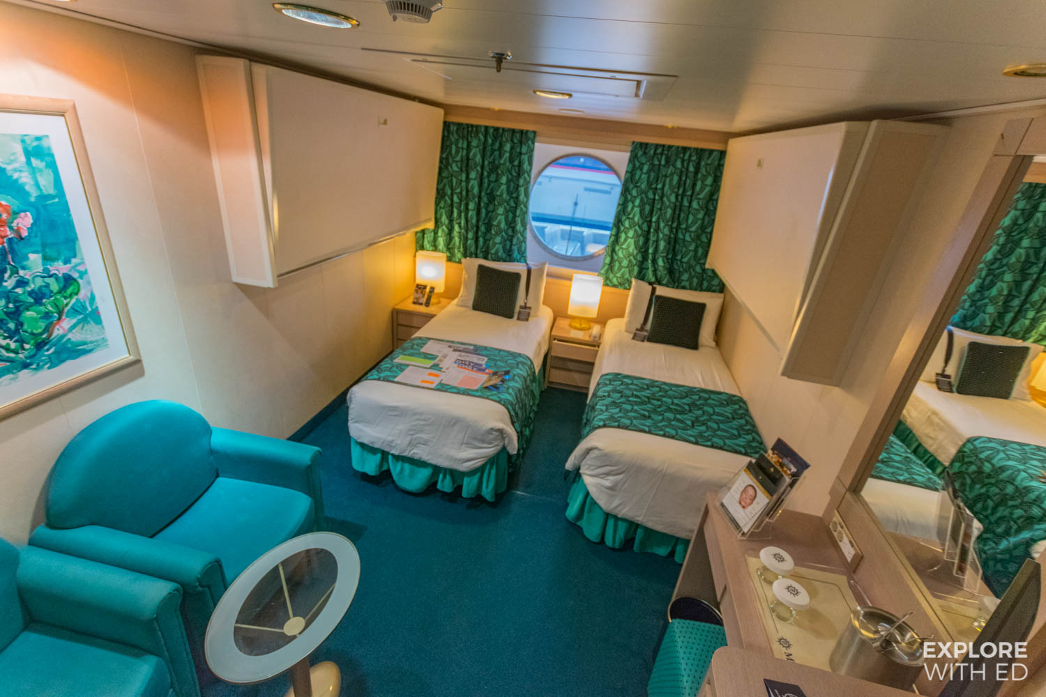 Outside four-berth cabin on MSC Musica