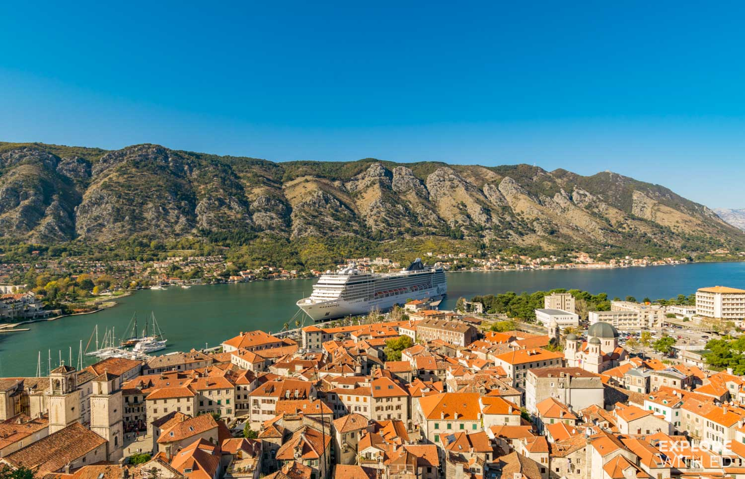 MSC Musica cruise ship in Kotor Montenegro