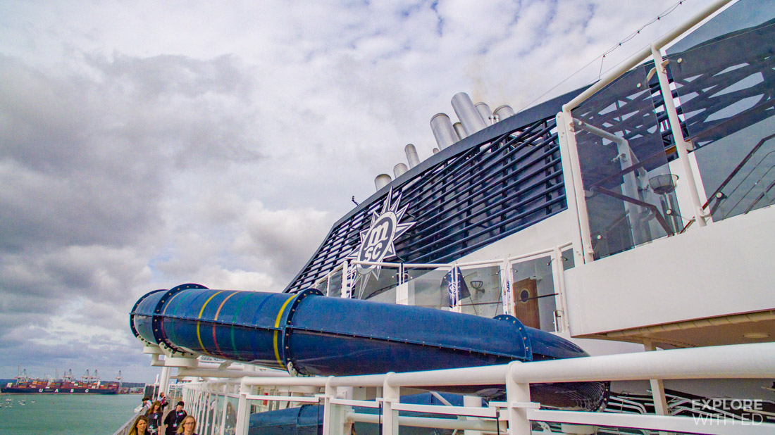 One of the longest Waterslides At Sea