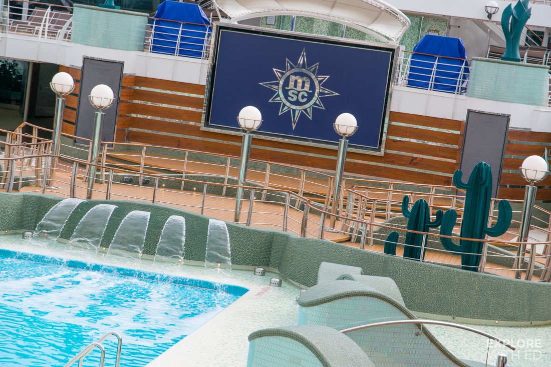 Pool area on MSC Preziosa