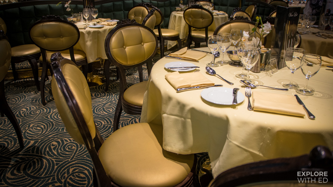 The Golden Lobster seating on MSC Preziosa
