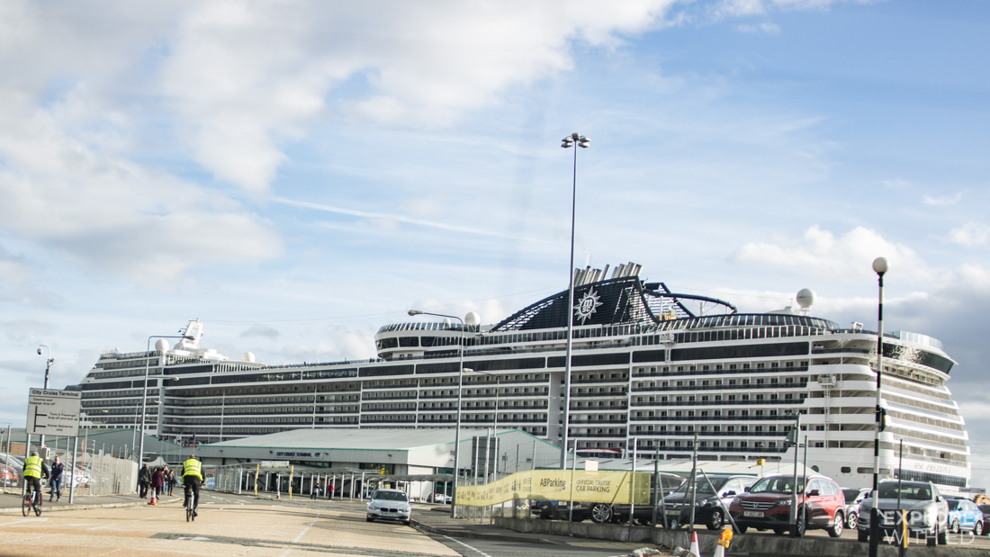 MSC Preziosa docked in Southampton