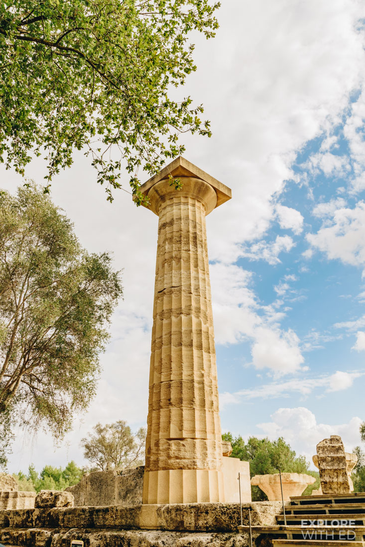 A reconstructed column for the Temple of Zeus in Olympia