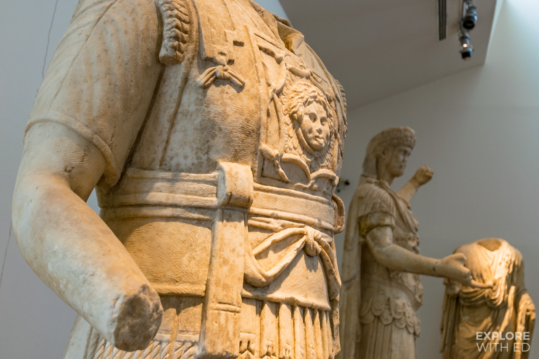 Collection of statues at the Olympia Museum