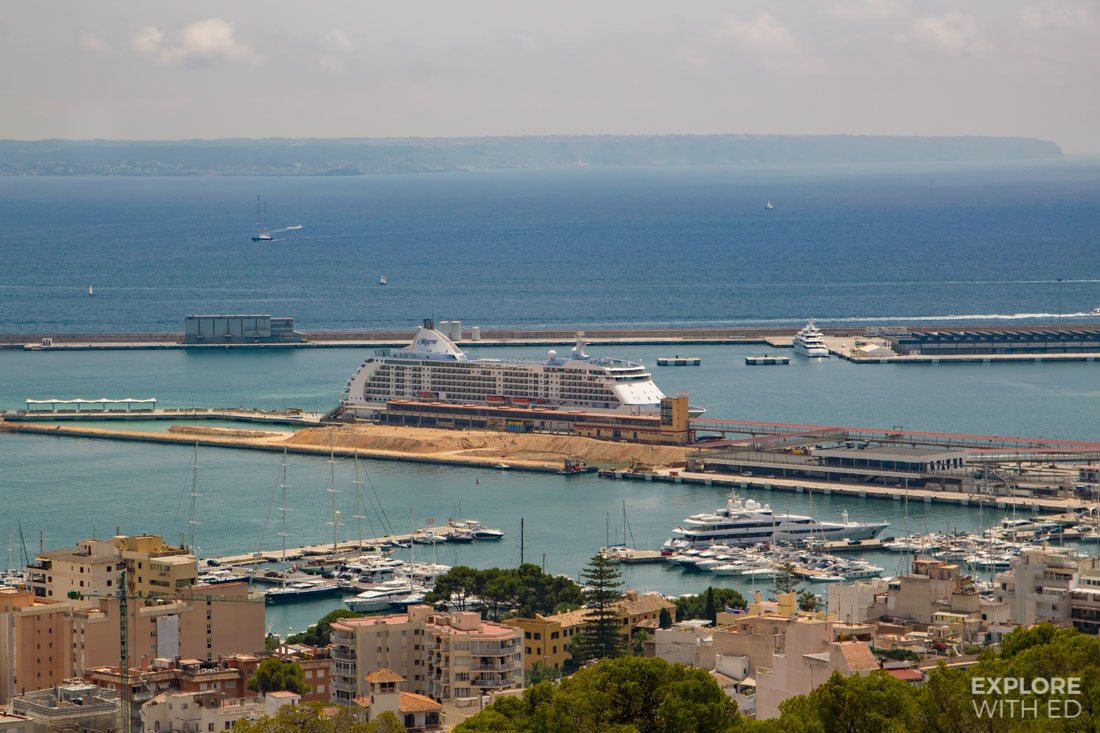 Regent Seas cruise ship docked in Palma de Mallorca
