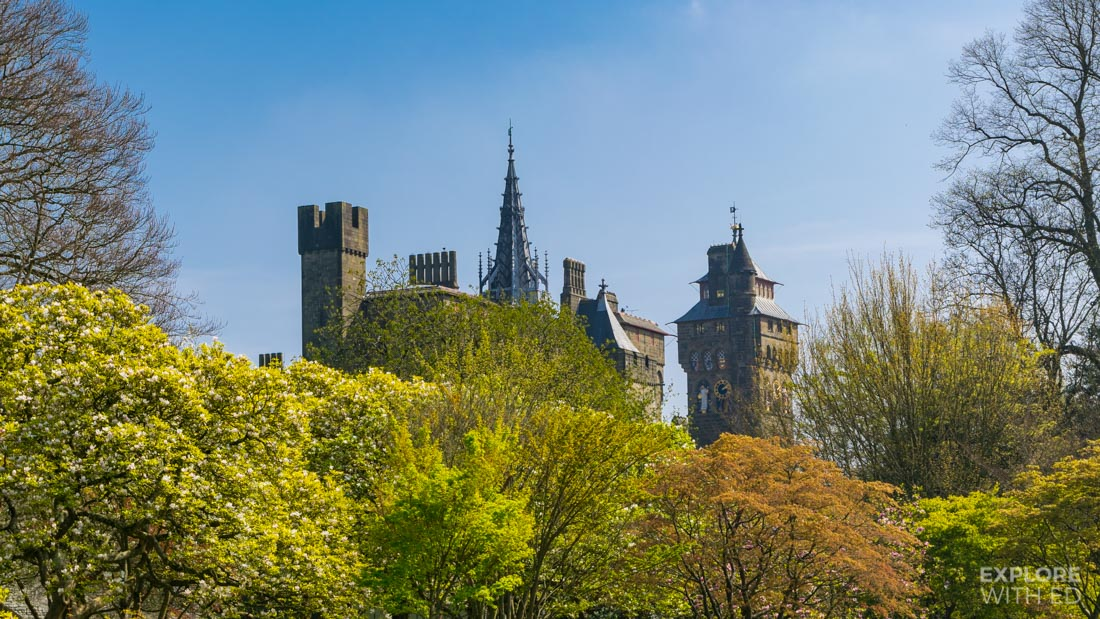 Cardiff Castle in the Spring