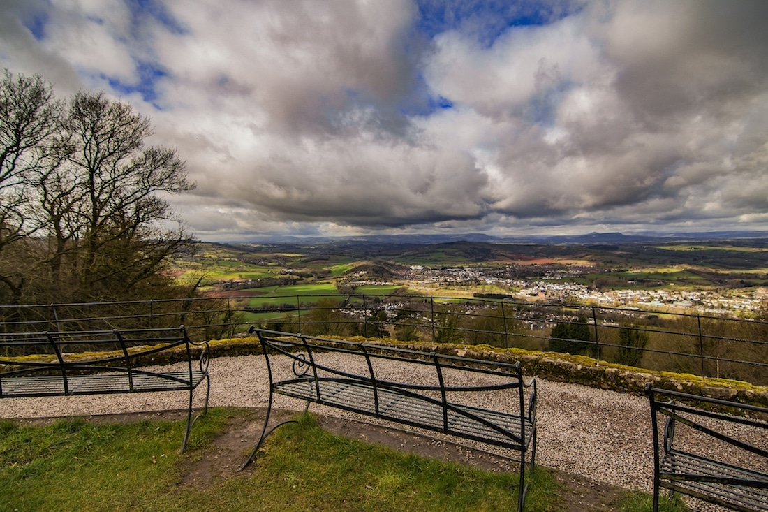 View from the Kymin in Monmouth