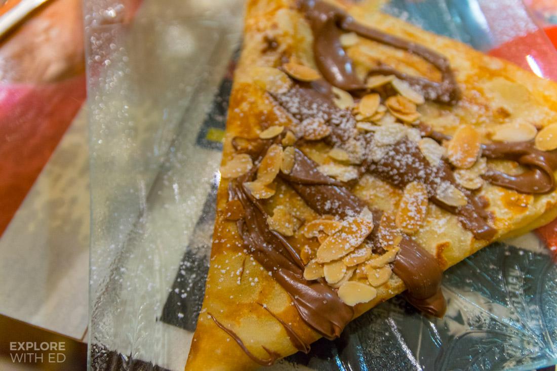 Nutella Crepe in Saint Paul de Vence France