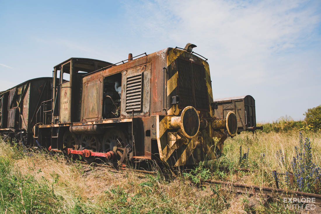 Old locomotive on the Salisbury Plains