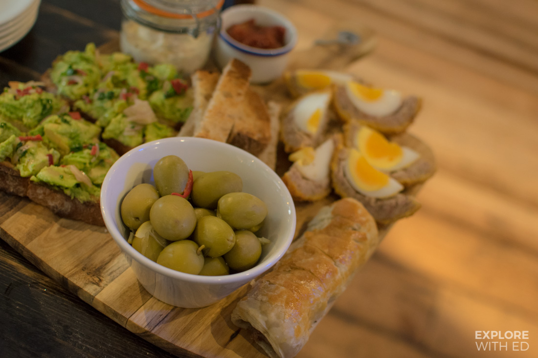 Bar snacks in The Old Ale and Coffee House in Salisbury