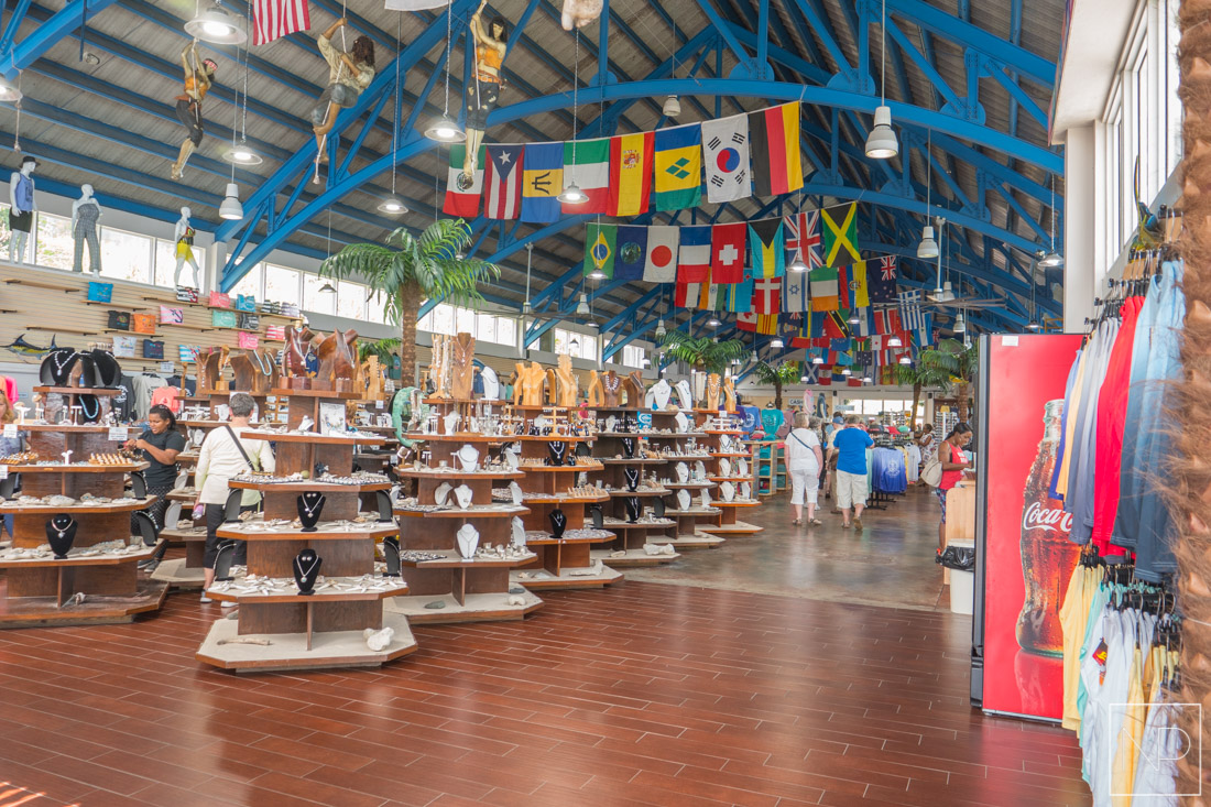 Huge shopping hall at the Mountain Top in St. Thomas