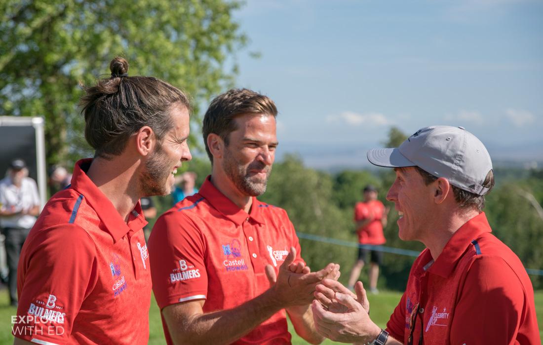 Gareth Bale, Gethin Jones and Rob Brydon