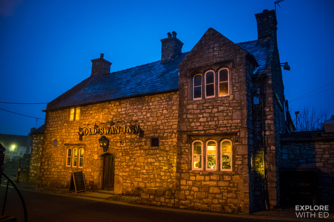 Outside The Old Swan Inn the oldest in Llantwit Major