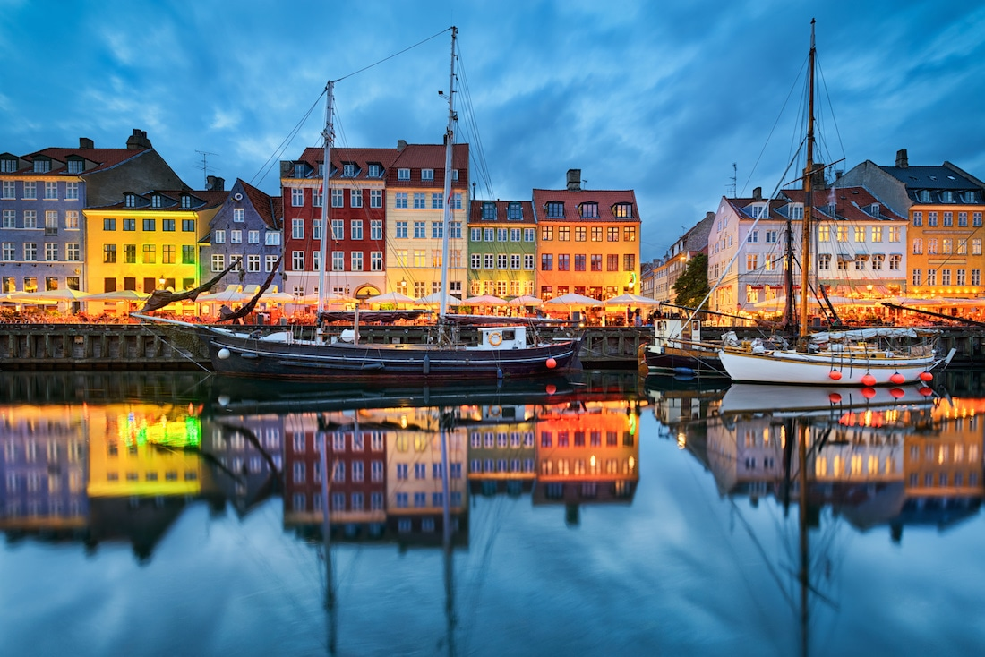 Colourful houses in Copenhagen, The Nyhavn, Nautical architecture