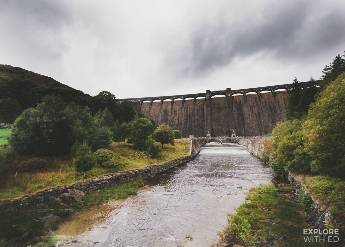 One of six dams in The Elan Valley