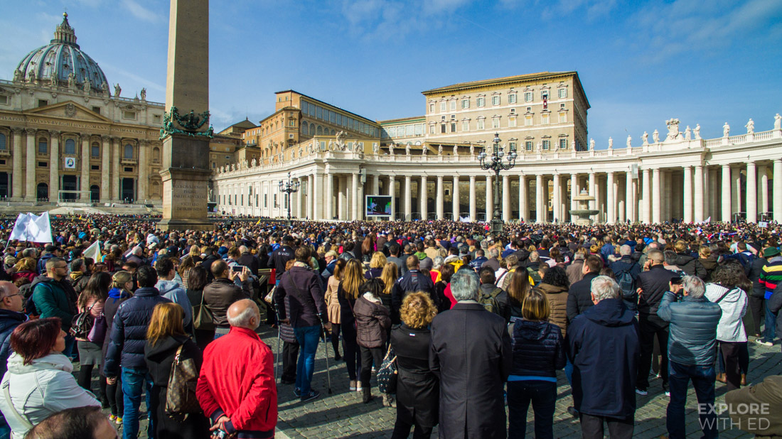 A Sunday Angelus Prayer from the Pope in Saint Peter's Square