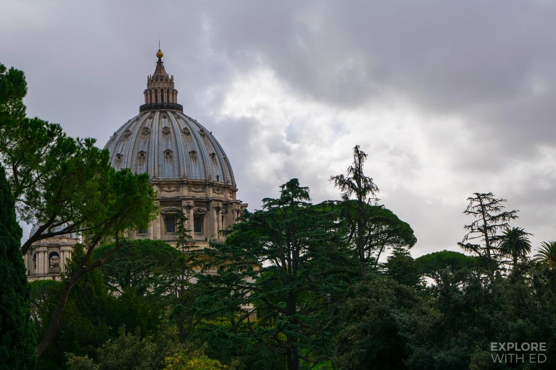 The gardens of Vatican City
